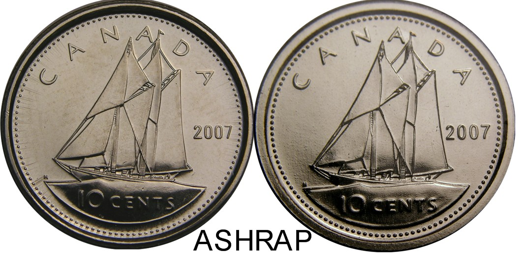Canadian 10 Cent Varieties
